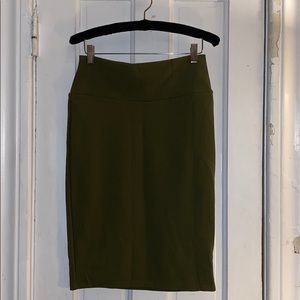 LuLaRoe Cassie - Olive Green - Size Small